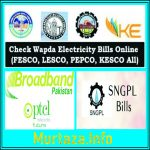 LESCO Wapda, Sui Gas, PTCL, Bills Duplicate Copy Print Download