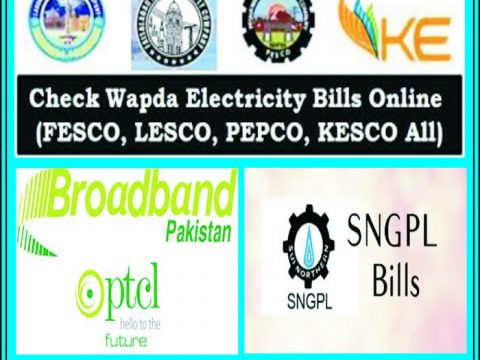 LESCO Wapda, Sui Gas, PTCL, Bills Duplicate Copy Print Download