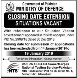 Ministry Of Defence Islamabad Jobs
