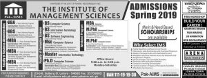 Admission Open in The Institute of Management Science Spring 2019
