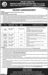 Emergency Medical Technician jobs January 2019 in Disaster & Climate Resilience Improvement Project in Muzaffarabad