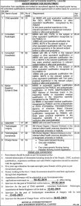Government Lady Aitchison Hospital Lahore Jobs January 2019 for Child Specialist etc