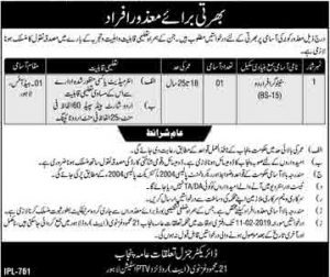 Government Of Punjab Lahore Jobs January 2019 For Stenographer