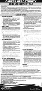 Pakistan International Airlines Karachi Jobs January 2019 For Chief Executive Officer