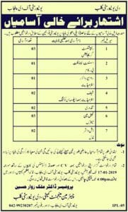 Punjab University Jobs January 2019 Latest