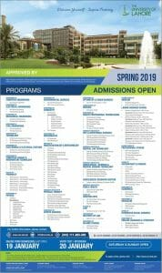 The University Of Lahore Admissions January 2019