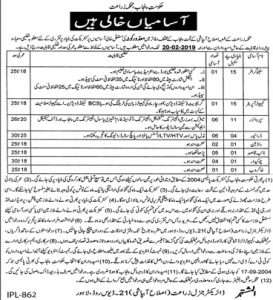 Agriculture Department Lahore Jobs 2019 For Stenographer Disable Quota