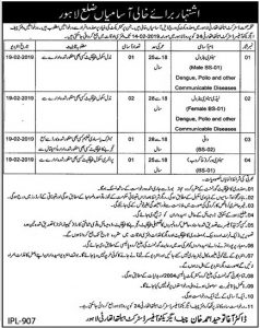 District Health Authority Lahore Jobs For Sentry Petrol and Female Sentry petrol