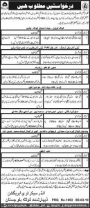 Irrigation Department Baluchistan Latest Jobs 2019 (272 Vacancies)