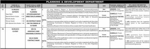 Planning & Development Department PPSC Jobs 2019 for Planning Officer Assistant Chief