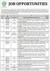 Punjab Forensic Science Agency Home Department, Govt. of the Punjab Jobs 2019 for  Security Incharge, Personal Assistant and much more