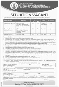 Ministry of water Resources jobs 2019 for Dispatch Rider, Duplication Machine Operator, Sweeper