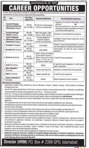 Pakistan Atomic Energy Jobs 2019 P O Box No. 2399 Islamabad for Assistant Manager, Caretaker