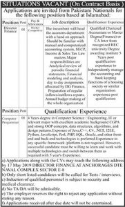 Pak Navy Naval Complex jobs 2019 For Computer Programmer and Finance