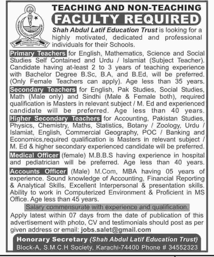 Elementary And Secondary Education Kpk Jobs 2019