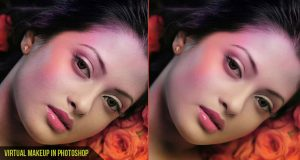 Virtual Makeup in Photoshop Banner