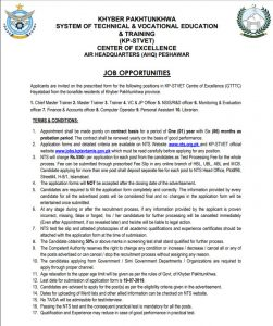 Air Head Quarters AHQ Peshawar Jobs 2019 Ststem of Technical Vacational Education
