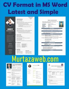 Resume Templates, CV Format, Top 20 in MS Word