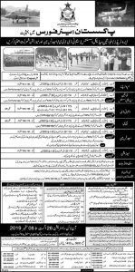 Pakistan Air Force, Join PAF Jobs August 2019, www.joinpaf.gov.pk, Apply Online