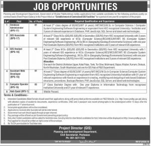 Planning and Development Department Jobs 2019 Government of KPK