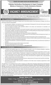 Pakistan Horticulture Development & Export Company Jobs 2019 Online Apply
