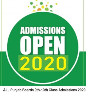 9th, 10th Class Online Admission Form 2020 Registration Last Date Online Admissions