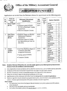 Accountant Military NTS Jobs 2019 for Data Operator, Junior IT Auditor