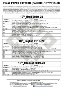 Final Paper Pattern Pairing 9th & 10th 2019-2020