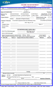 Income Tax Form 2019 IT-31 (Rev-II) for Department TAX Payment Receipt in PDF and Excel