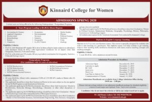 Online Postgraduate Programs, Teaching English with Diploma, 4-Years Program 2020 Kinnaird College