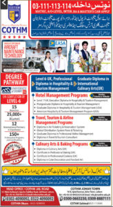 COTHM Admission 2020, Online Apply, Download Form for Short Courses, College Of Tourism And Hotel Management