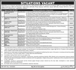 Government Organization PO Box No. 10 Jobs 2020 for Jr Stenographer, Junior Clerk and more