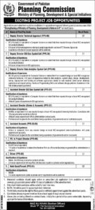 Ministry of Planning, Development & Special Initiatives Islamabad 2020 Jobs for Deputy Director, Assistant Director