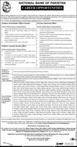 NBP Jobs 2020, National Bank of Pakistan, Online Apply, Operation Officer, Consumer Retail Officer and more
