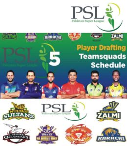 PSL 5-Pakistan Super League 2020, PSL 5 Teams and Players List, Pakistan Super League Squads