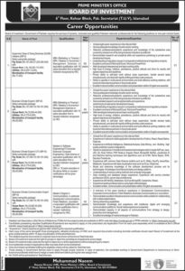 Prime Minister Office Islamabad Jobs 2020, Business Climate Expert and more