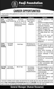 Fauji Foundation Hospital Jobs 2020 for Classified Specialist Pain Management Clinic and Much More