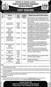 Federal Government Employees Housing Authority NTS Jobs 2020
