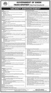 Finance Department Sindh Jobs 2020 for Director Finance, Assistant Director