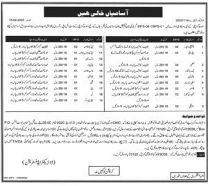 Government Jobs  Time Keeper  Security Guard, Book Binder Karachi Jobs 2020