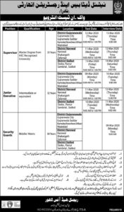 National Database & Registration Authority NADRA Jobs 2020 Nadra Online
