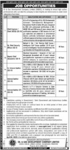 Oil & Gas OGDCL Islamabad Jobs 2020 for Dy. Chief Security Officer, Internal Auditor