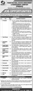Pakistan Real Estate Investment & Management Company (PRIMACO) Jobs 2020