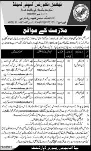 National Insurance Company Karachi Jobs 2020 for General Manager, Manager Head of Risk Management