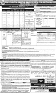 PPSC Punjab Police Jobs 2020, Inspector Legal   Accountant, Building Inspector