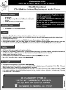 Pakistan Nuclear Regulatory Authority Jobs 2020, MS Nuclear Engineer