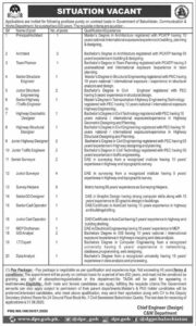 Govt Of Baluchistan Communication And Works Department Latest Quetta Technical Jobs 2020