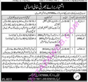 Kasur Tanneries Waste Management Agency Ktwma Management Latest Jobs 220