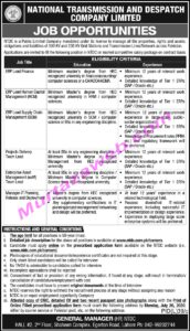National Transmission And Despatch Company NTDC Manager IT Jobs 2020