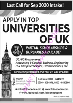 Study in the UK University 2020 Applications for UD and PG Programs